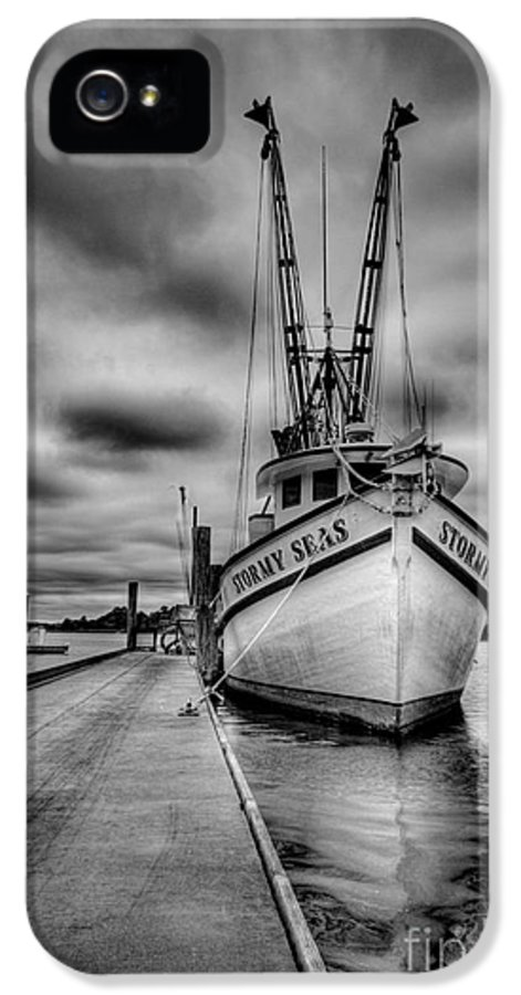Boats IPhone 5 / 5s Case featuring the photograph Stormy Seas by Matthew Trudeau