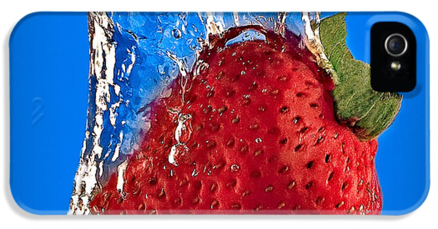 Strawberry IPhone 5 / 5s Case featuring the photograph Strawberry Slam Dunk by Susan Candelario