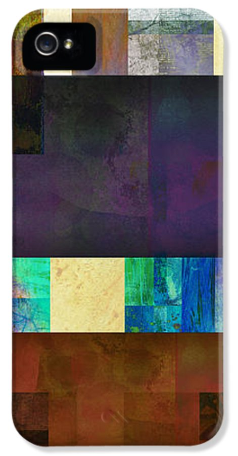 Abstractabstracts IPhone 5 / 5s Case featuring the digital art Stripes And Squares - Abstract -art by Ann Powell