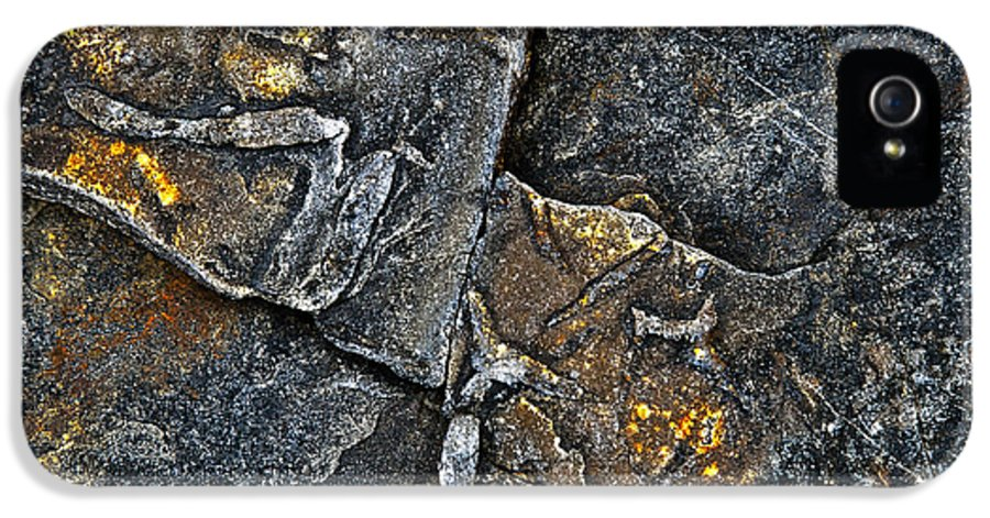 Stone IPhone 5 / 5s Case featuring the photograph Structural Stone Surface by Heiko Koehrer-Wagner
