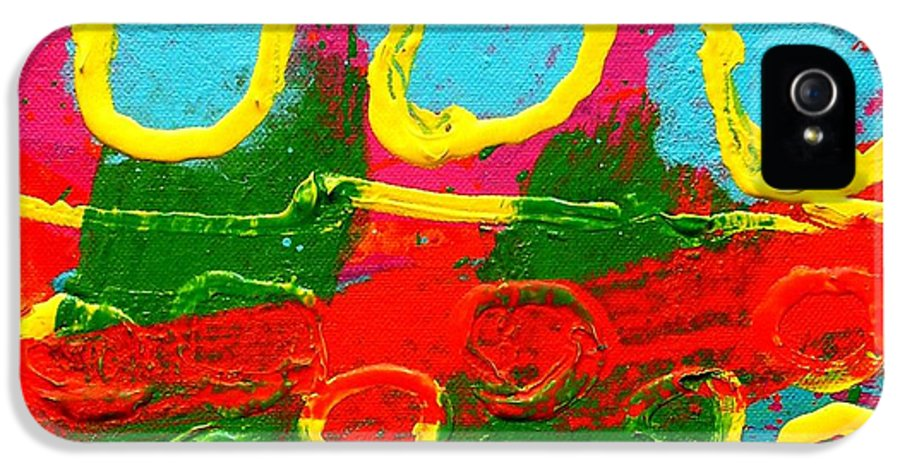 Acrylic IPhone 5 / 5s Case featuring the painting Sub Aqua IIi - Triptych by John Nolan
