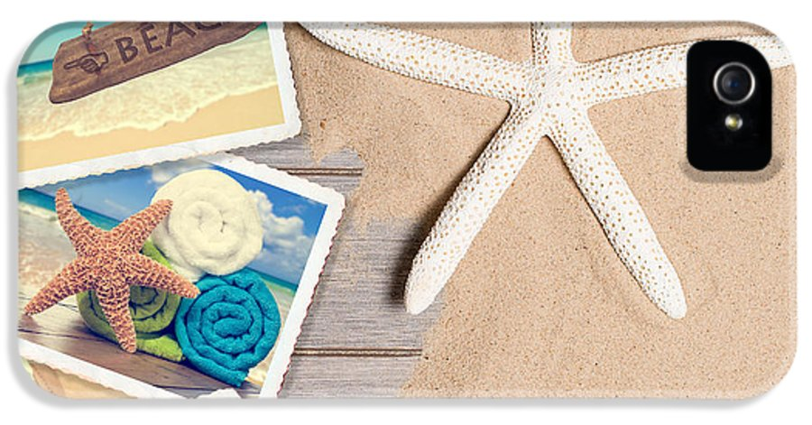 Sand IPhone 5 / 5s Case featuring the photograph Summer Beach Postcards by Amanda Elwell