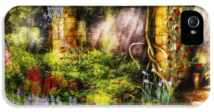 Savad IPhone 5 / 5s Case featuring the digital art Summer - I Found The Lost Temple by Mike Savad