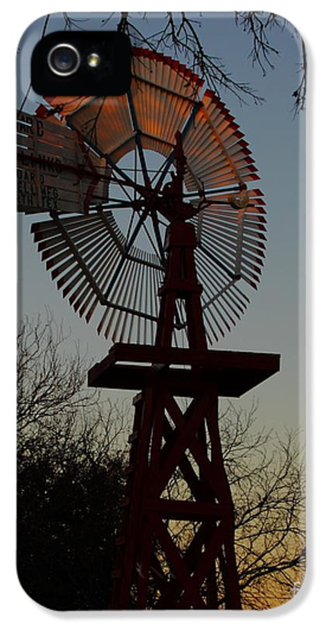 Windmill IPhone 5 / 5s Case featuring the photograph Sun Moon And Wind by Robert Frederick