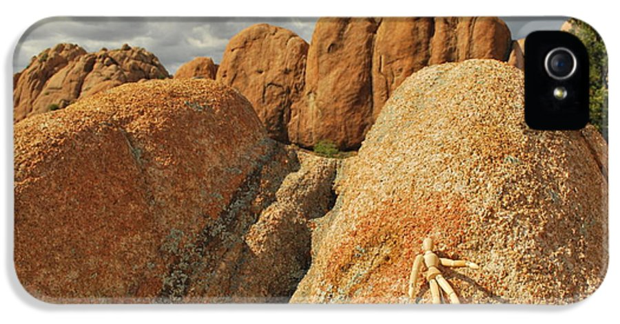 Granite IPhone 5 / 5s Case featuring the photograph Sunbathing In The Raw by Heather Kirk