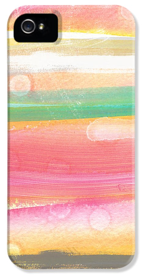 Abstract Painting IPhone 5 / 5s Case featuring the painting Sunday In The Park- Contemporary Abstract Painting by Linda Woods