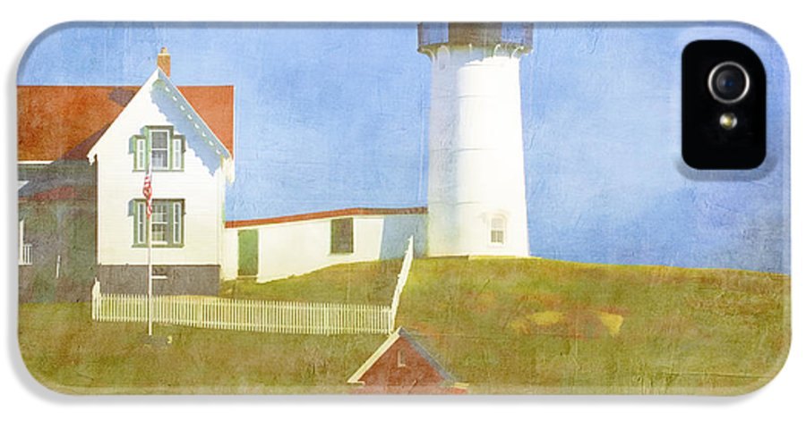 Light IPhone 5 / 5s Case featuring the photograph Sunny Day At Nubble Lighthouse by Carol Leigh