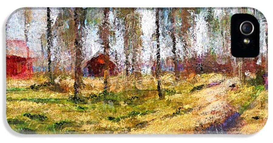 Vilnius IPhone 5 / 5s Case featuring the digital art Sunny Day In April by Yury Malkov