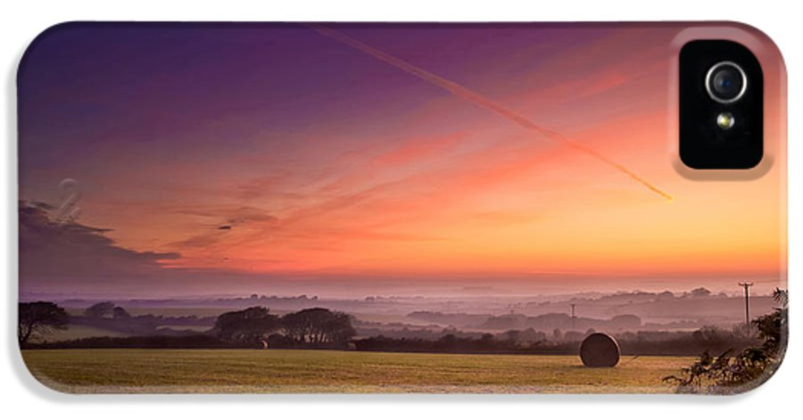 Landscape IPhone 5 / 5s Case featuring the photograph Sunrise Over Cornwall by Christine Smart