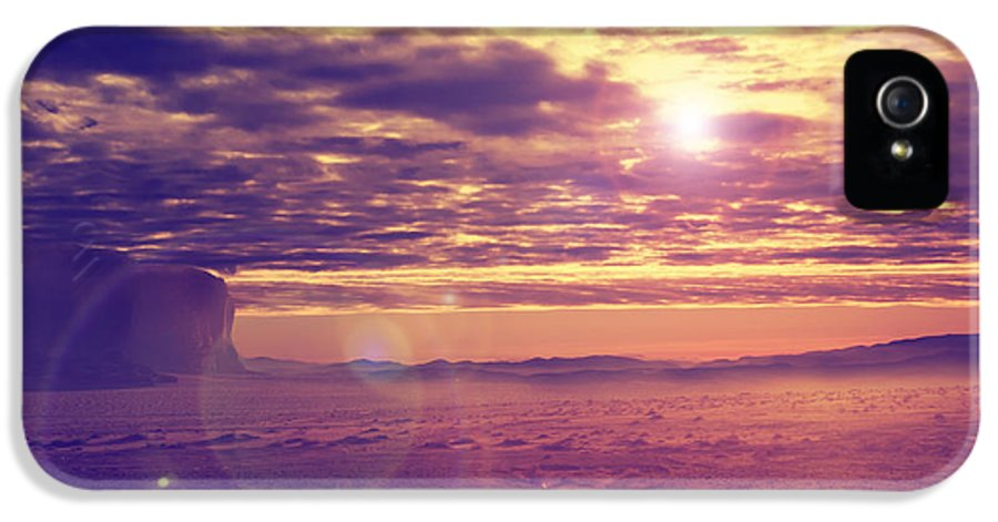 Desert IPhone 5 / 5s Case featuring the pyrography Sunset In The Desert by Jelena Jovanovic