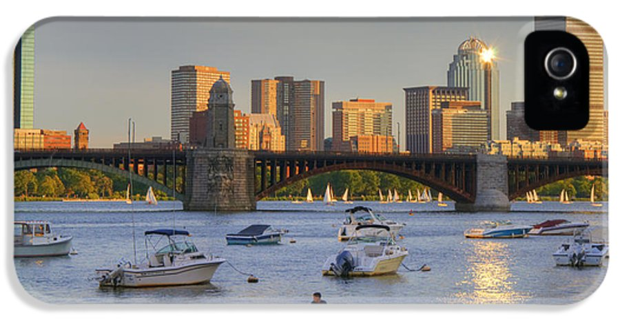 Boston IPhone 5 / 5s Case featuring the photograph Sunset On The Charles by Joann Vitali