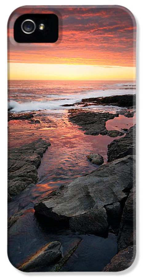 Ocean IPhone 5 / 5s Case featuring the photograph Sunset Over Rocky Coastline by Johan Swanepoel
