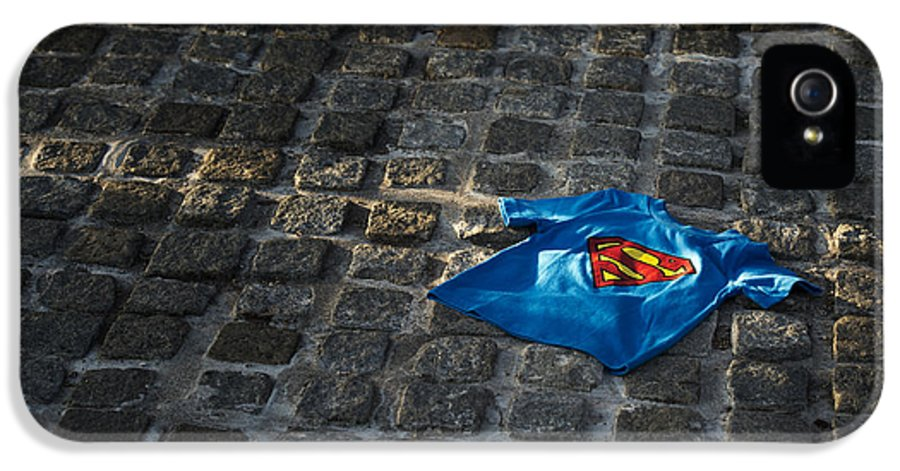 Discarded IPhone 5 / 5s Case featuring the photograph Superhero by Tim Gainey