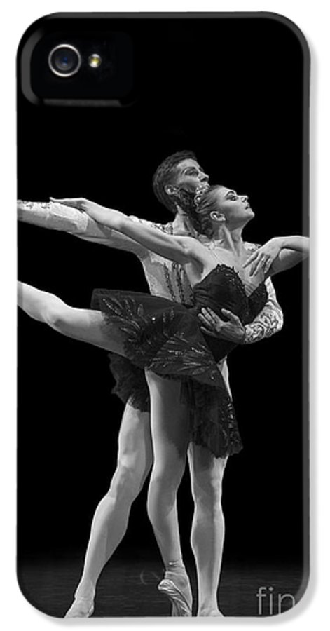 Hermitage IPhone 5 / 5s Case featuring the photograph Swan Lake Black Adagio Russia by Clare Bambers