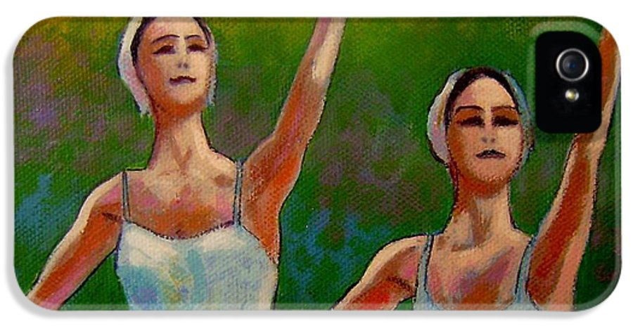 Ballet IPhone 5 / 5s Case featuring the painting Swan Lake II by John Nolan