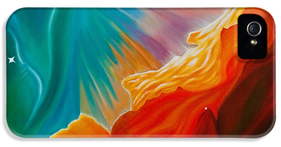 Nebula IPhone 5 / 5s Case featuring the painting Swan Nebula by Barbara McMahon