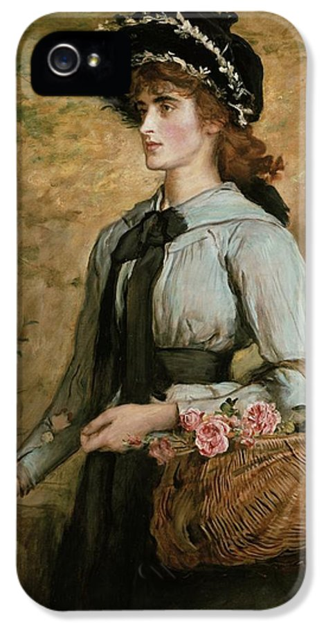 Basket IPhone 5 / 5s Case featuring the painting Sweet Emma Morland by Sir John Everett Millais