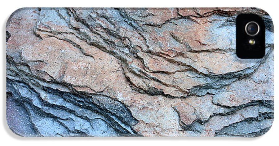 Nature Abstract IPhone 5 / 5s Case featuring the photograph Tahoe Rock Formation by Carol Groenen