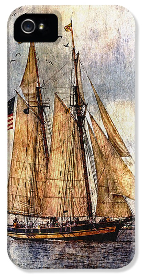 Pride Of Baltimore Ii IPhone 5 / 5s Case featuring the digital art Tall Ships Art by Dale Kincaid