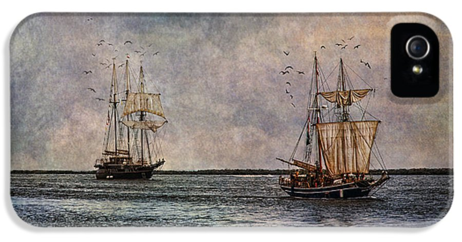 Tall Ships IPhone 5 / 5s Case featuring the photograph Tall Ships by Dale Kincaid