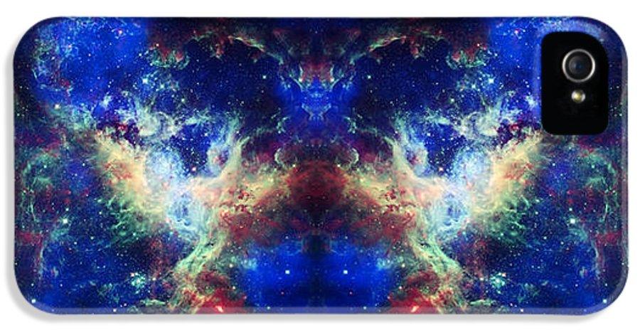 Tarantula Nebula IPhone 5 / 5s Case featuring the photograph Tarantula Nebula Reflection by The Vault - Jennifer Rondinelli Reilly