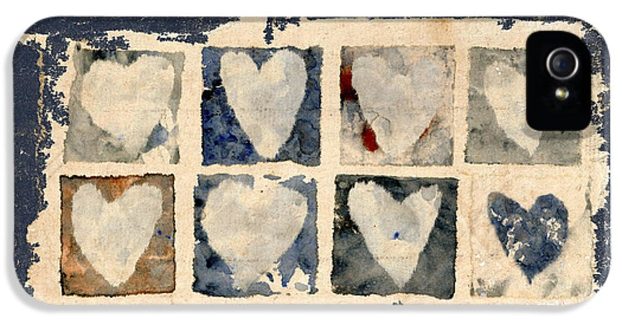 Eight IPhone 5 / 5s Case featuring the photograph Tattered Hearts by Carol Leigh