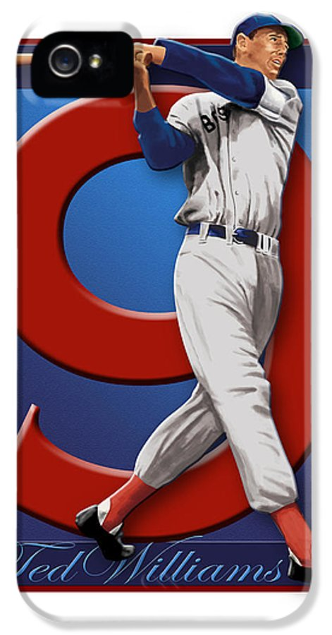 Ted IPhone 5 / 5s Case featuring the digital art Ted Williams by Ron Regalado