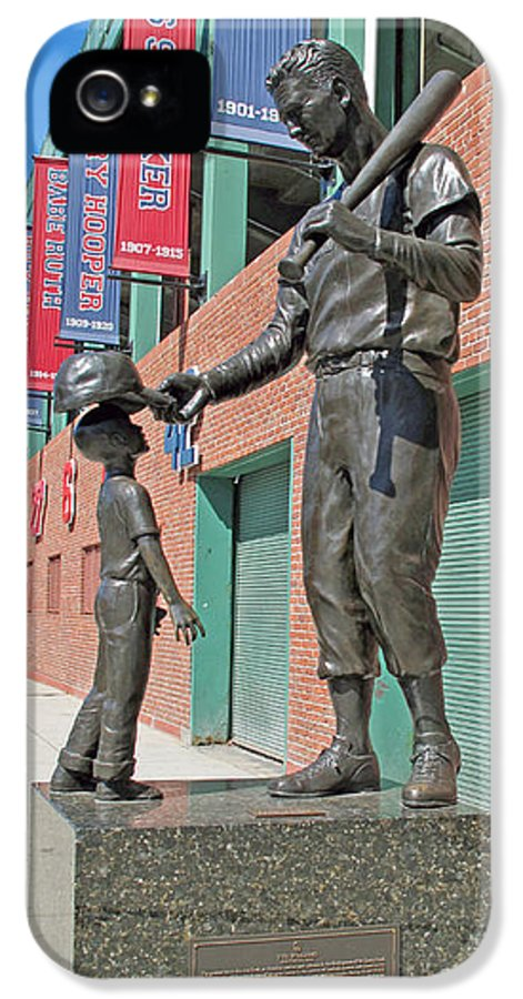 Baseball IPhone 5 / 5s Case featuring the photograph Ted Williams Statue by Barbara McDevitt