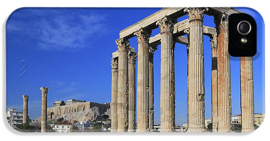 Acropolis IPhone 5 / 5s Case featuring the photograph Temple Of Olympian Zeus Athens Greece by Ivan Pendjakov