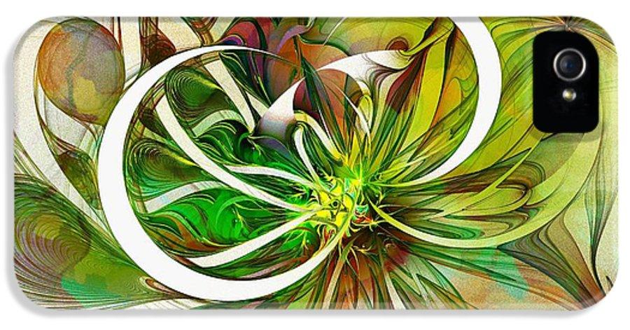 Digital Art IPhone 5 / 5s Case featuring the digital art Tendrils 15 by Amanda Moore