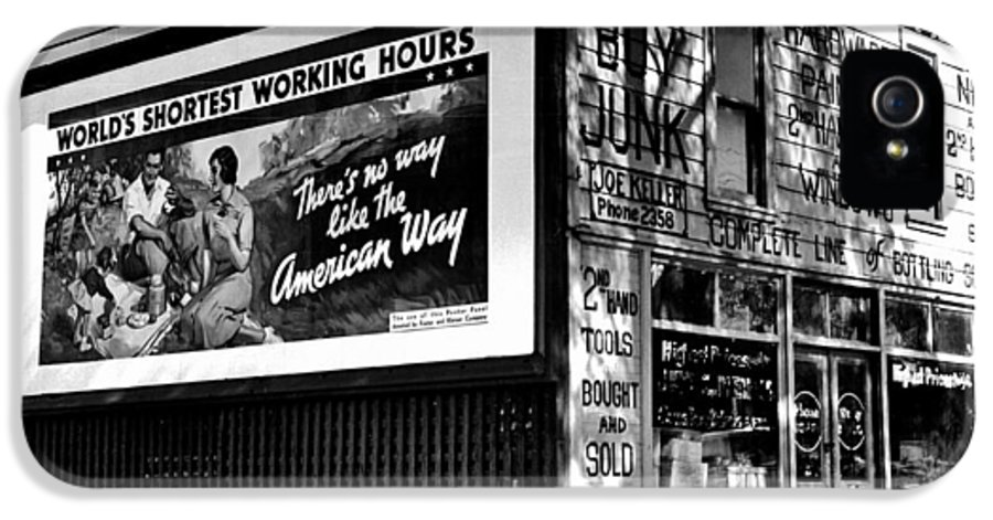 American IPhone 5 / 5s Case featuring the photograph The American Way - Shortest Working Hours by Benjamin Yeager