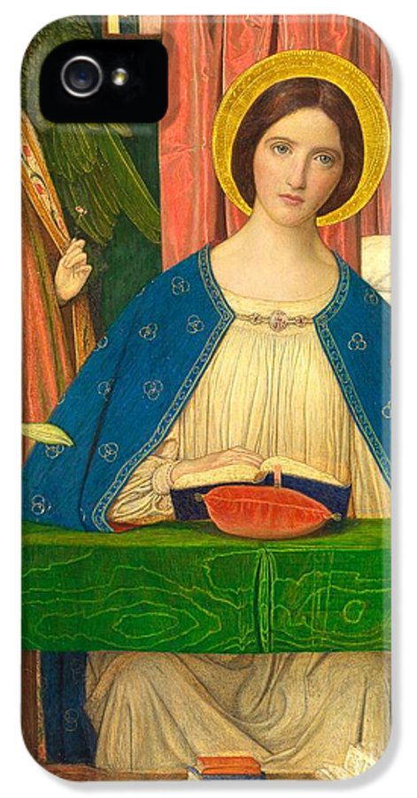 Virgin Mary IPhone 5 / 5s Case featuring the painting The Annunciation by Arthur Joseph Gaskin
