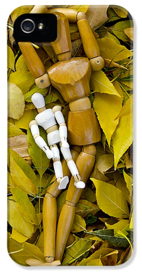 Mannequin IPhone 5 / 5s Case featuring the mixed media The Bonding Time by Angelina Vick