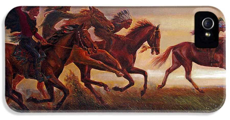 Horse IPhone 5 / 5s Case featuring the painting The Bright Lure Of Freedom by Svitozar Nenyuk