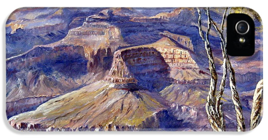 Arizona IPhone 5 / 5s Case featuring the painting The Canyon by Lee Piper
