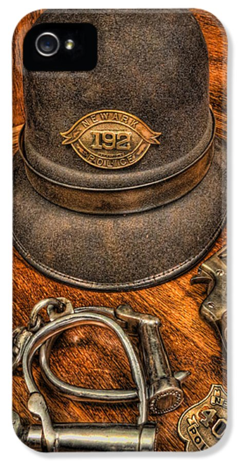 Police IPhone 5 / 5s Case featuring the photograph The Copper's Gear - Police Officer by Lee Dos Santos