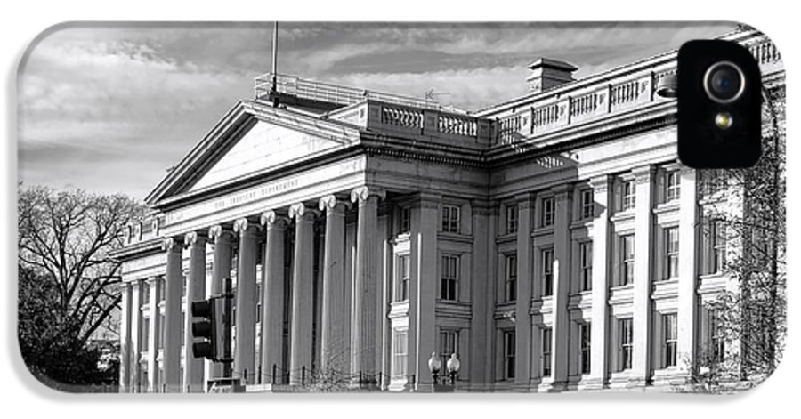 Washington IPhone 5 / 5s Case featuring the photograph The Department Of Treasury by Olivier Le Queinec