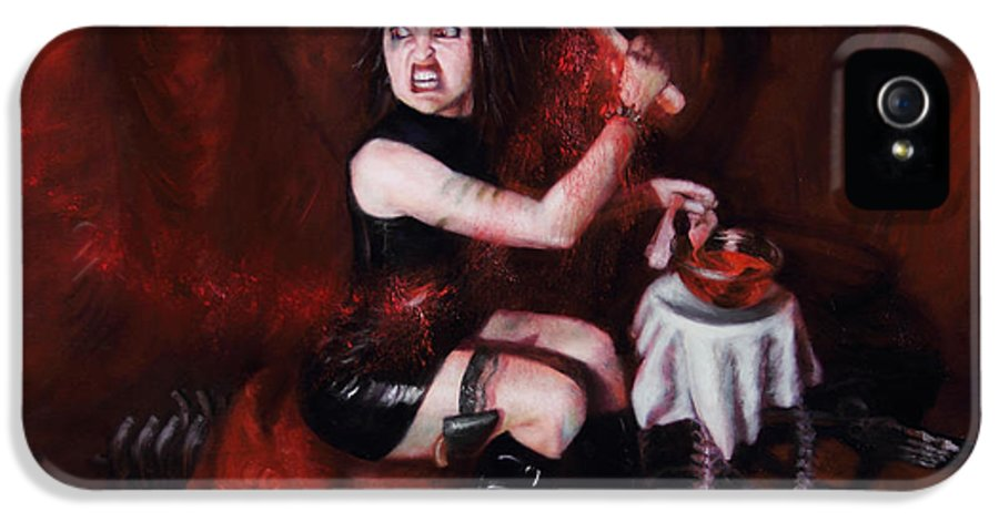 Shelley Irish IPhone 5 / 5s Case featuring the painting The Fearful by Shelley Irish