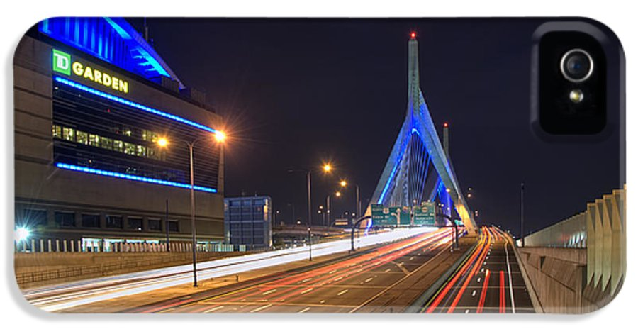 Boston IPhone 5 / 5s Case featuring the photograph The Garden And The Zakim by Joann Vitali