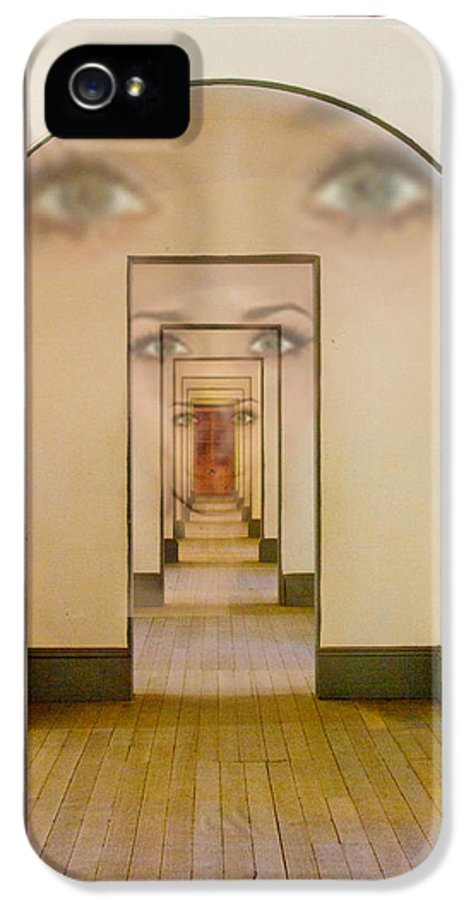 Eyes IPhone 5 / 5s Case featuring the digital art The Girl With Far Away Eyes by Bill Gallagher
