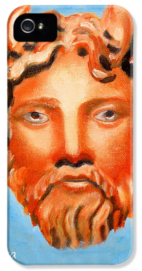 Cyprus IPhone 5 / 5s Case featuring the painting The God Jupiter Or Zeus. by Augusta Stylianou