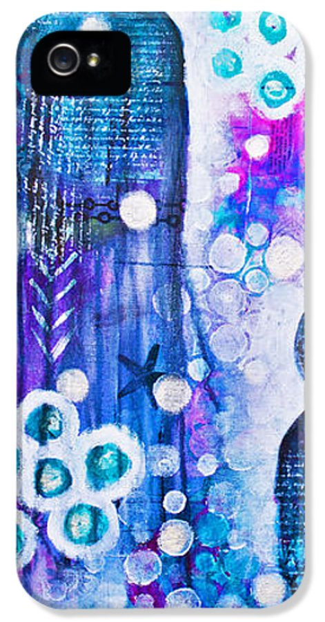 Color IPhone 5 / 5s Case featuring the mixed media The Guardians by Melissa Sherbon