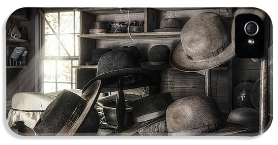 19th Century IPhone 5 / 5s Case featuring the photograph The Hatters Shop - 19th Century Hatter by Gary Heller