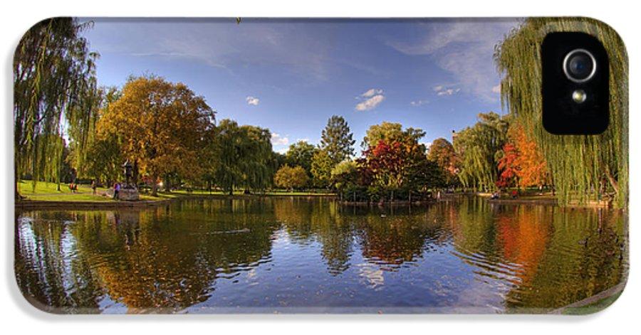 Boston IPhone 5 / 5s Case featuring the photograph The Lagoon - Boston Public Garden by Joann Vitali