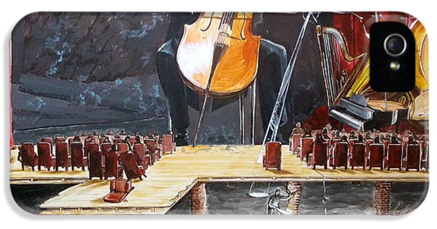 Music IPhone 5 / 5s Case featuring the painting The Last Concert Listen With Music Of The Description Box by Lazaro Hurtado