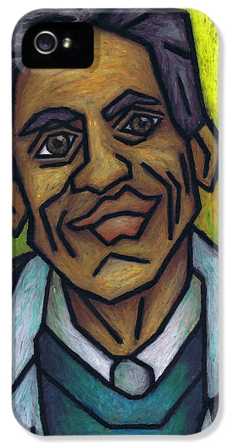The Man With The Golden Voice IPhone 5 / 5s Case featuring the painting The Man With The Golden Voice by Kamil Swiatek