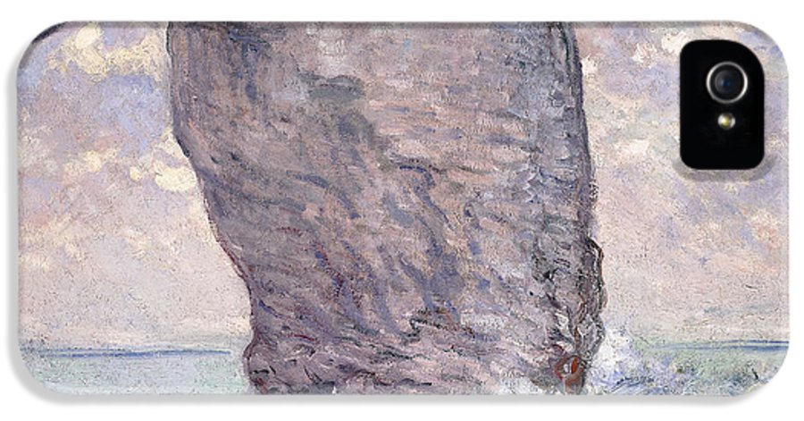 1880s IPhone 5 / 5s Case featuring the painting The Manneporte Seen From Below by Claude Monet