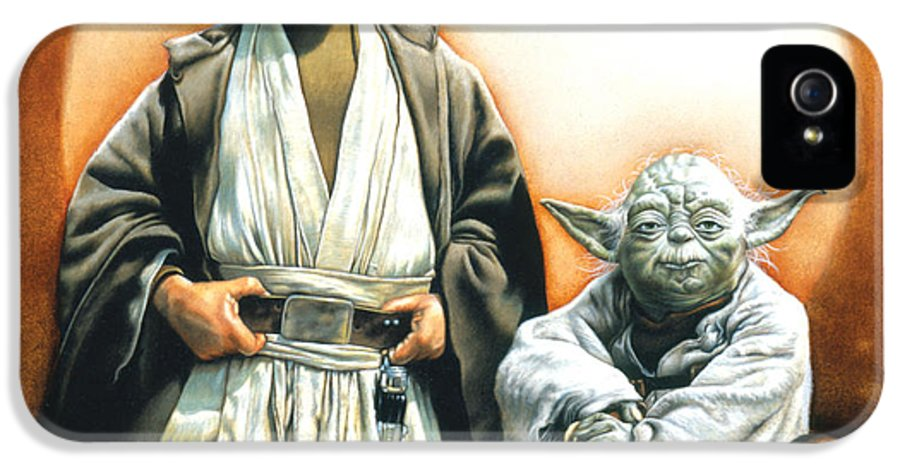 Star Wars IPhone 5 / 5s Case featuring the drawing The Masters by Edward Draganski