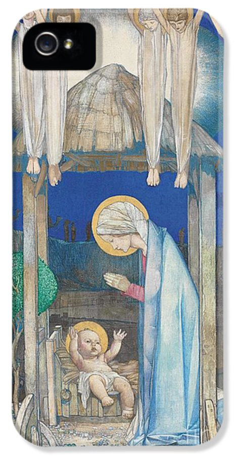 Nativity IPhone 5 / 5s Case featuring the painting The Nativity by Edward Reginald Frampton