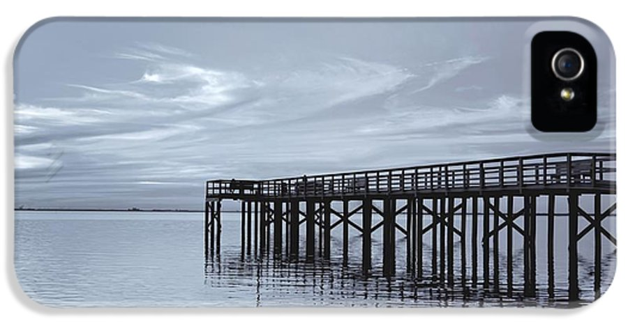 Pier IPhone 5 / 5s Case featuring the photograph The Pier by Kim Hojnacki